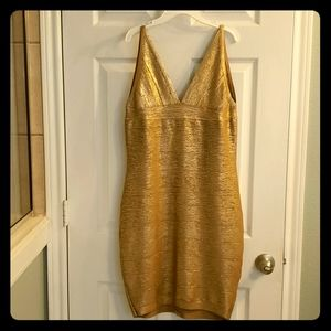 Bandage dress metallic gold 💋